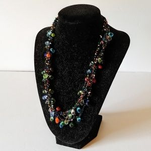 Jewelry - Vintage Multi-colored Necklace Glass Bead Necklace